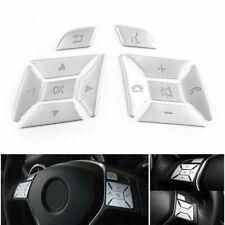Car Steering Wheel Button Silver Trim For Mercedes Benz E C G Class W204 12-2016