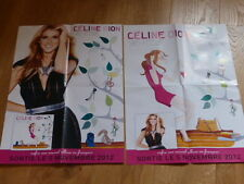 CELINE DION - SANS ATTENDRE !!!RARE FRENCH PROMO POSTER PRINTED ON 2SIDES