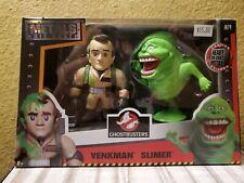 """Jada Metals Die Cast Ghostbusters Venkman Slimer Twin Pack Heavy M79 4"""" Age 8+"""