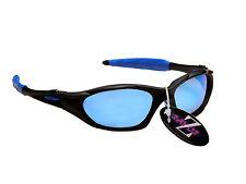 RayZor 478 Uv400 Sports Wrap gafas de sol negro enmarcado azul lentes espejados RRP £ 49