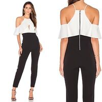 NWT Bardot Marlee Jumpsuit In Black And White Women's Size 4/XS Retail: $150