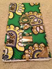 Mid Century Style Dead Stock Fabric Super Wax Nouvo Waxhaus 6 Yards