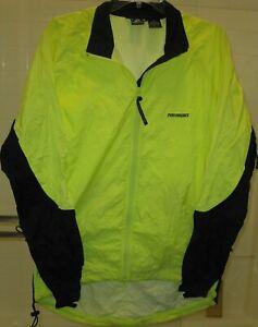 Performance men's long sleeve zip up nylon cycling jacket w/ 2 back pockets XL