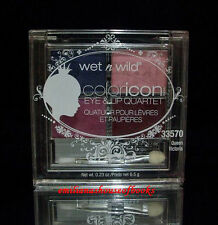 WET n WILD COLORICON EYE & LIP QUARTET MAKEUP 6.5G  #33570 QUEEN VICTORIA