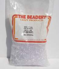 1000 Crystal 11 mm Tri Beads Jewelry Crafts Clear White 7.5oz Beadery Ornaments