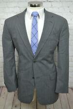 $595 NAUTICA Mens Gray 2 Button Wool Classic 2 Piece Suit 43L 35Wx31L