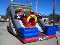 Double Dump Truck Slide inflatable game, Used in good condition