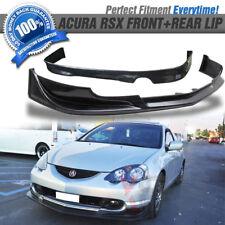 Fits 02-04 Acura RSX Mugen Front + Rear Bumper Lip Spoiler 03