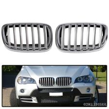 ABS Front Hood Sport Bumper Kidney Grille Pair For BMW E70 X5 E71 X6 2007- 2013
