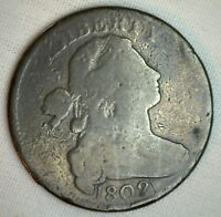 1802 Draped Bust Copper Large Cent Early Penny Type US Coin Circulated 1c Good