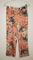 Zara Size XS Women's Pants Floral Pull On Elastic Waist Cropped Pockets