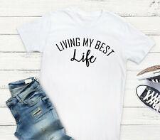 Living del mio meglio Life-dichiarazione Slogan DIVA Insta-Nero o Bianco S-5XL T-shirt