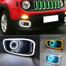 Fit For jeep renegade 2015-2018 front fog light DRL projector Angel Eye Halo