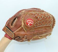 New listing Rawlings Leather 13-Inch All Players Closed Basket Web Baseball Mitt LH
