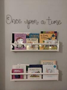 """""""Once upon a time"""" Wire Words in choice of colours - Metal Sign for the wall"""