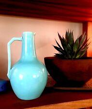 SAMUEL LEAR Pottery Jug Turquoise Pitcher CHRISTOPHER DRESSER 1880 Aesthetic Era