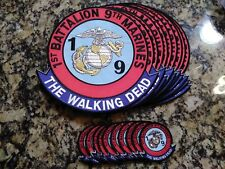 "10"" 1st Battalion 9th Marines The Walking Dead Jacket Patch & 3"" Patch Lot of 10"