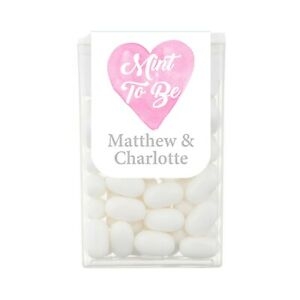 Personalised Tic Tac Watercolour Wedding Favours Mints
