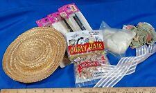 Vintage Doll LOT Hair Eyelashes Hat Ribbon Curly Hair Wig NOS NIP Parts