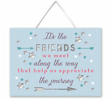 Friends Along The Way Hanging Plaque With Ribbon More Than Words Gift