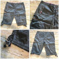 Angel Kiss Jr 9 Army Green Cotton Chino Drawstring Waist Hem Shorts W35 L14