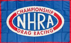 NHRA Racing Flag 3x5 ft Blue Banner National Hot Rod Association Man-Cave