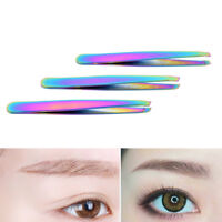 Colorful Hair Removal Eyebrow Tweezer Eye Brow Clips Beauty Makeup Tools 3C CE