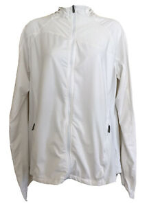 Columbia Women's Omni-Wick Jacket size XL White Zippered Hooded Long Sleeve