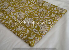 3 Yard Indian Hand block Print Running Loose Cotton Fabrics Printed Decor New_20