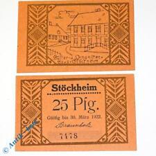 1 x Notgeld Stöckheim , 25 Pfennig Küsterhaus , emergency money , M/G 1272.2 kfr