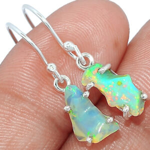 Ethiopian Opal Rough 925 Sterling Silver Earring Jewelry BE23810