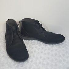 Mark Nason Skechers Men's Sz 13 Black Ankle Desert Boots Suede Chukka 68122