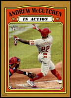 Andrew McCutchen 2021 Topps Heritage 5x7 Gold #240 /10 Phillies In Action