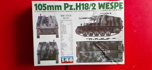 Sdkfz 124. 105mm Pz H18/2 Wespe mobile artillery  in 1/48 scale by Fuman/Bandai