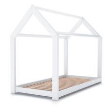 VICCO Lit pour enfants WIKI Lit d'enfant Lit Maison 80x160 bois naturel blanc