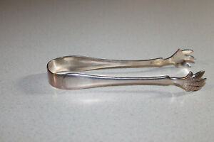 ANTIQUE 1835 R. WALLACE SILVER PLATE SUGAR TONGS CLAW 6 1/2 in.