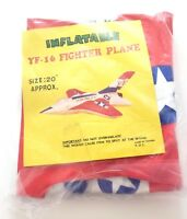 """Vintage Inflatable YF-16 Fighter Plane US Air Force 20"""" New In Package"""