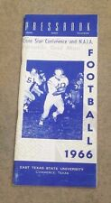 EAST TEXAS STATE UNIVERSITY - COLLEGE FOOTBALL MEDIA GUIDE - 1966