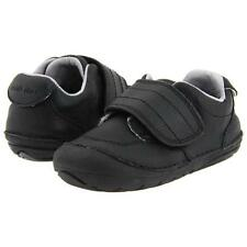 Boys Striderite Black  NON-Tie Walking Shoes  Infant Boys Size 4 1/2  Wide