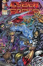 1993 CYBER FORCE  #2 & #3 ( THE TIN MEN OF WAR SERIES )  IMAGE COMICS VF+