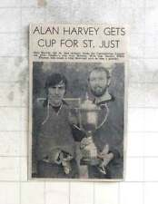 1975 Alan Harvey, St Just Skipper Holding Combination League Cup, Willie Thomas