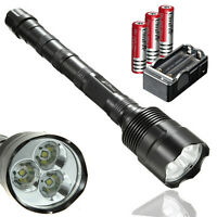 20000 Lumens 3x CREE XM-L T6 3T6 LED Flashlight Lamp Torch 18650 Battery Charger