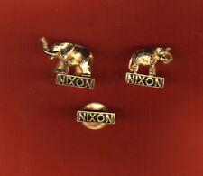 Three Nixon Pins - Two Elephants