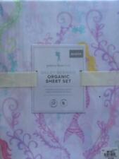 POTTERY BARN KIDS Bailey Mermaid Organic QUEEN 4 piece Sheet Set - NEW