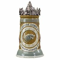 Game of Thrones House Stark Stein – 22 Oz Ceramic Base with Pewter Baratheon