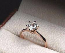 Engagement Classic Bridal Wedding Rose Gold Plated Solitaire Ring J K M N O P R