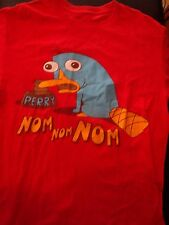 Terrific Phineas & Ferb Perry the Platypus T-Shirt, Size Small, Nice Shape!