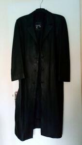 manteau long veritable cuir