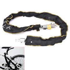 Motorbike Scooter Bike Chain Pad Lock Security Iron Chain Inside + 2Keys 100cm D