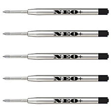 5 x Quality Ballpoint Pen Refills in Medium Black Ink. Fits Parker Ballpoint Too